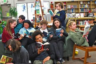 Image result for Diverse Group of teens with books